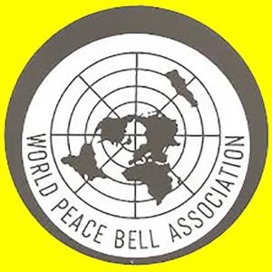 World Peace Bell Association logo on yellow background