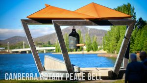Photograph of the Canberra Rotary Peace bell by Bernie Den Hartog
