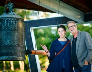 Lauren and Fred Kasparek designers of the the bell pavilion
